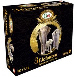 "Gred Schwarzer Tee ""3 Elefanten"" 2,5g x 100"