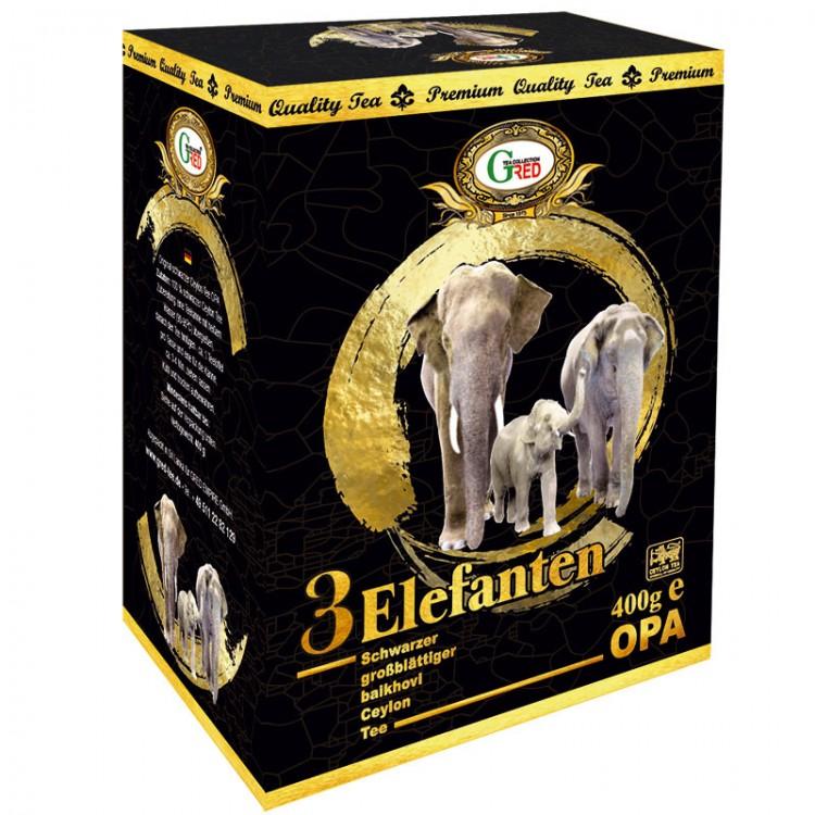 """Gred Schwarzer Tee OPA """"3 Elefanten"""" 400g"""