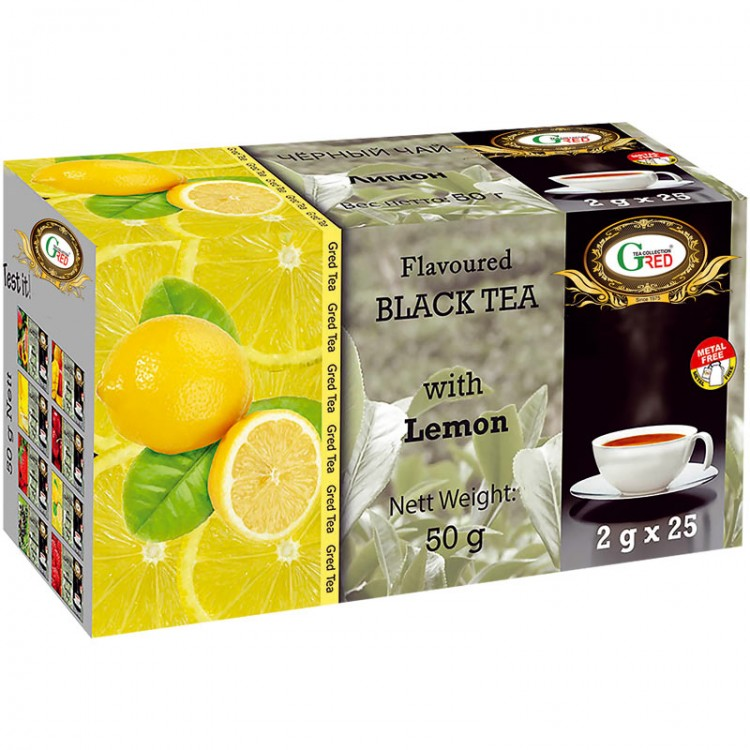 Gred Schwarzer Tee mit Zitrone 2g x 25