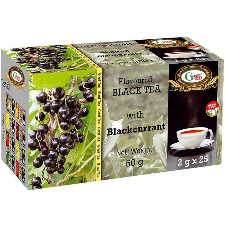 Gred Schwarzer Tee mit Schwarzer Johannisbeere 2g x 25
