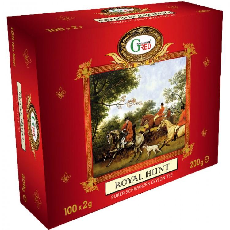 "Art. 1078 Gred Schwarzer Tee ""Royal Hunt"" 2g x 100"