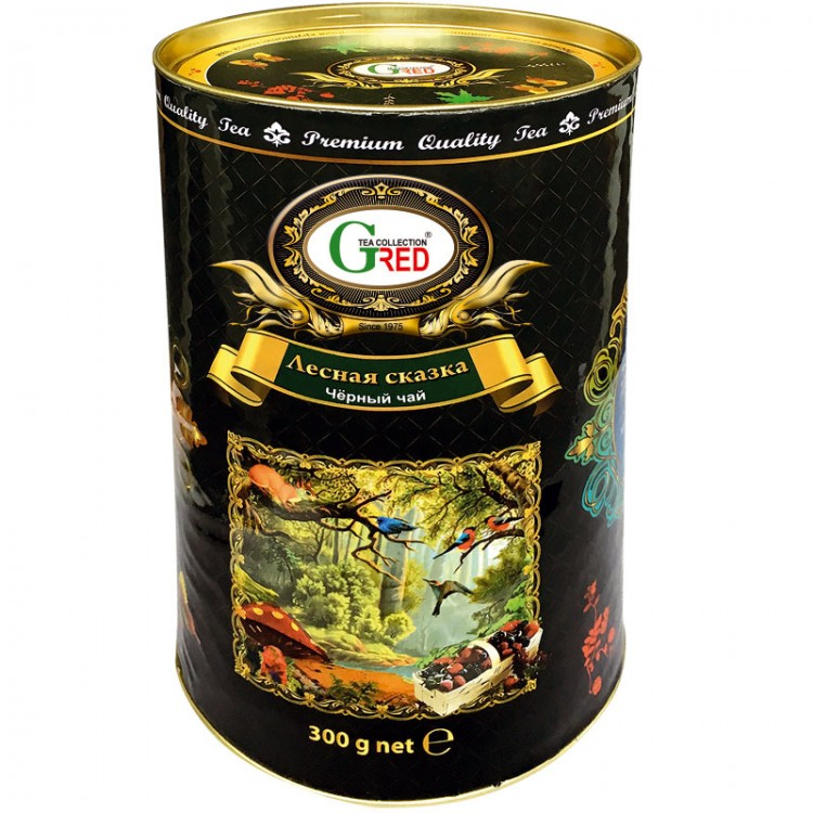 """Gred Schwarzer Tee OPA """"Magischer Wald"""" 300g"""