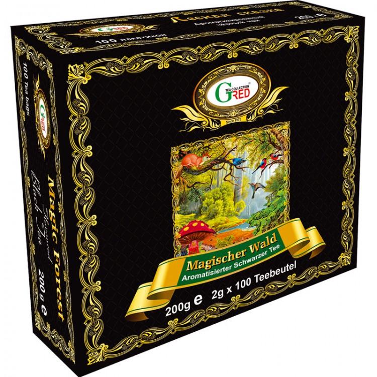 """Gred Schwarzer Tee """"Magischer Wald"""" 2g x 100"""
