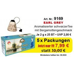 "Art. 9169 5x Gred Schwarzer Tee ""Earl Grey"" je 2g x 25"