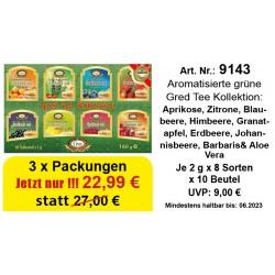 "Art. 9143 3x Gred Grüner Tee ""Assorti"" je 2g x 10 x 8"